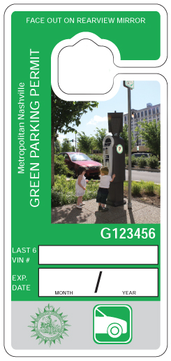 Green Parking Permit Davidson County Clerk
